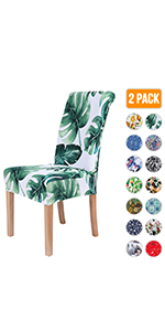 Green Tropical Printed Chair Covers
