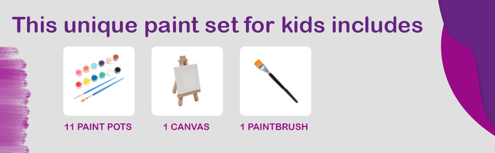 am Beautiful Inside amp; Out - Kids Canvas Painting Kit 2