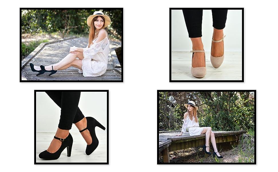 High Chunky Heels Platform Wedding shoes