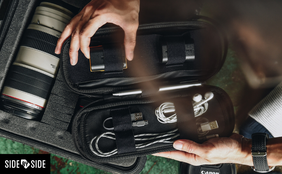 POWER PACKER pouch tech bag organizer by SIDE BY SIDE