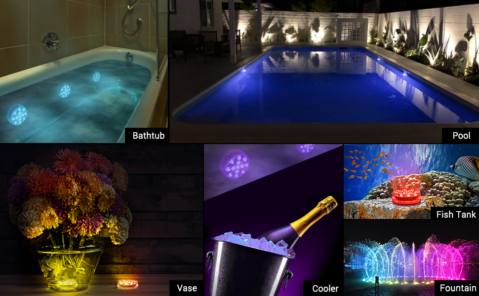 magnetic waterproof pool lights