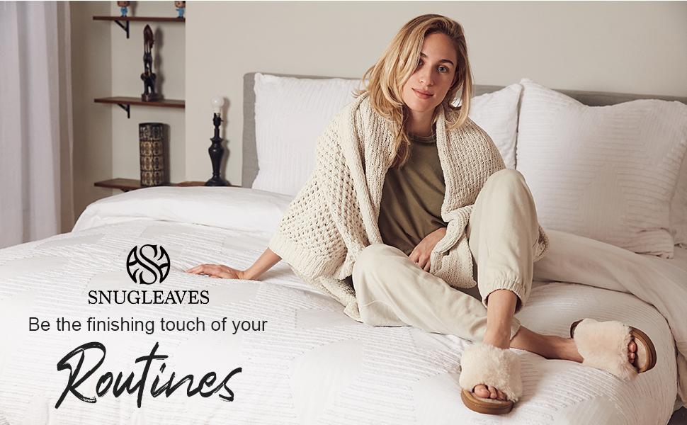 Snug Leaves Women's Splode Faux Fur Memory Foam House Slippers Anti-Slip Open Toe Slide