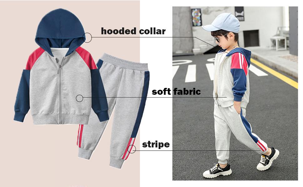 boys hooded jacket and sweatpant set