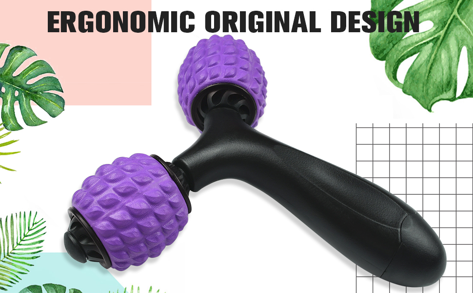 Trigger Point Roller Massage for Home Leg∣Muscle Relieve Exercise Self Massager∣Deep Tissue Facsia