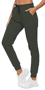 Women's Tapered Leg Sweatpants Deep Pockets