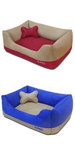 Microsuede Color-block Bed