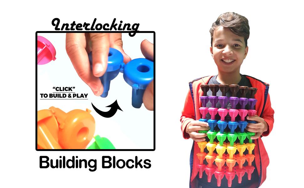kids korner, building toys, construction toys, stacking toys, fine motor skills, interlocking toys