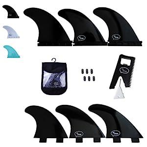 black surfboard fins