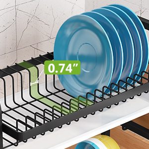 Dish Drying Rack, iSPECLE Dish Rack with Utensil Holder, Microfiber Dish Drainer Mat with Dish Rack
