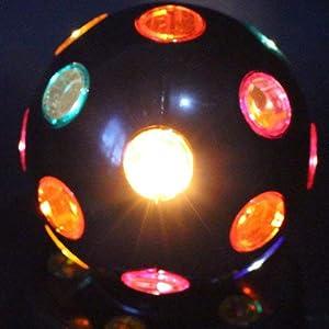 Light Up Rotating Multicolor Flashing Light Glowing Night Party Lamp 24 Bulbs Lumistick LED Rainbow Disco Ball Bulb