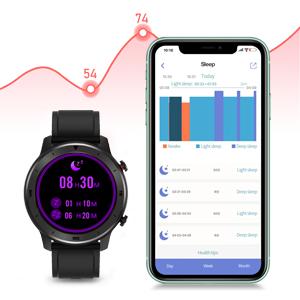Alerte de Notification Chronom/ètre Compatible iOS Android Samsung Huawei Popglory Montre Connect/ée Smartwatch Homme Femme Bracelet Connect/é Num/érique Moniteur Cardiaque Sommeil Tension Art/érielle