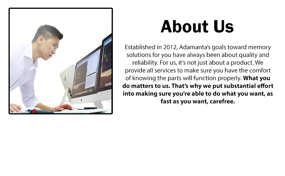 About us, Adamanta, memory solutions, quality, reliability, product, services, comfort, function
