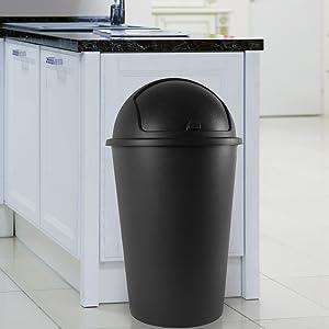 Poubelle corbeille à déchets corbeille à papier bac couvercle basculant cuisine bureau maison curver