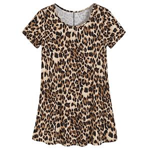 women leopard tunic tops