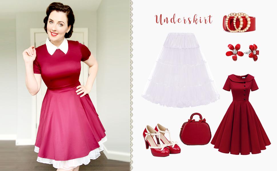 petticoat underskirt with swing dress