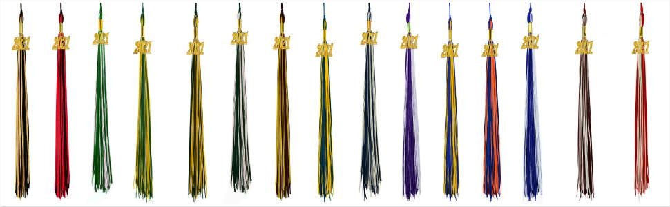 2021 tassels for graduation double color