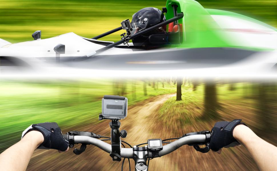 Motorcycle Bike Camera Clamp Mount