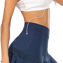 run skort for women with pockets stretch active skirt versatile