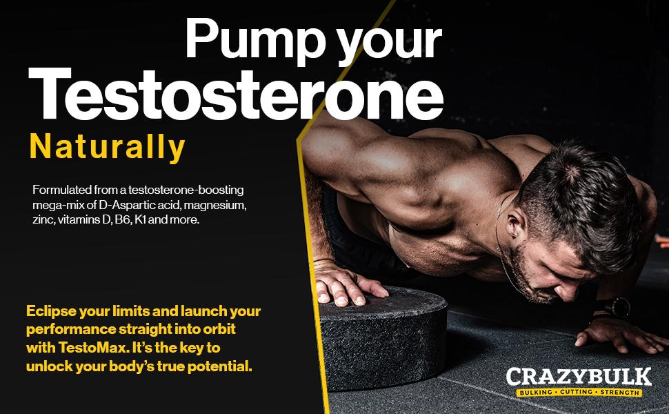 La bomba de testosterona natural natural de zinc vitaminas testomax testo Max testo-max ganancia muscular