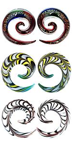 spiral plugs glass gauges