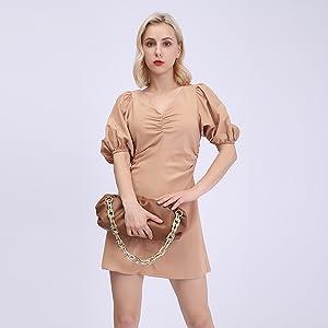 dumpling handbag lady
