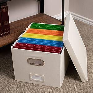 linen file box, storage box, teacher box, folding box, file storage organizer, shelf box