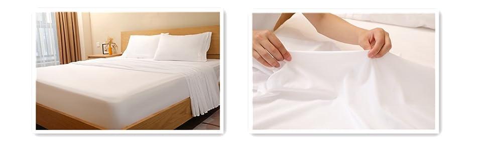 white sheet set 4pcs