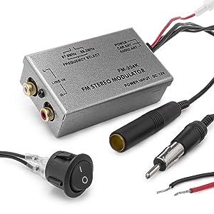 Universal FM modulador estéreo MP3 Auto Antena Cable Car Radio RCA AUX Adaptador
