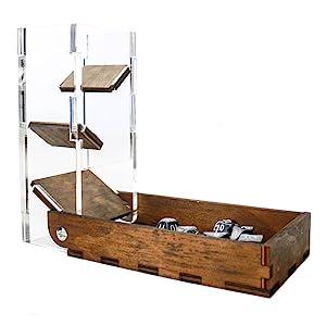 c4labs drawbridge dice tower attach dice tray fold travel roll