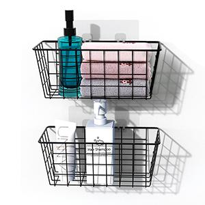 cabinet Door & Wall Mount Basket Kitchen Pantry Bath & Entryway Storage Organizer Tray Bin