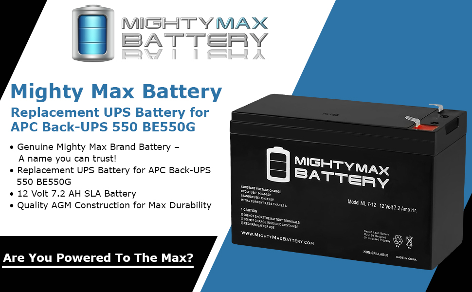 This is an AJC Brand Replacement APC Back-UPS BE 350U 12V 3.2Ah UPS Battery