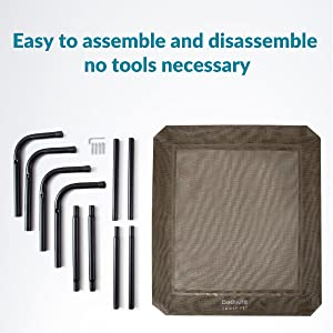 Easy to assemble and disassemble - not tools necessary