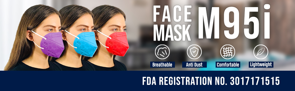 Face MAsk M95i Breathable Anti Dust Comfortable LightWeight