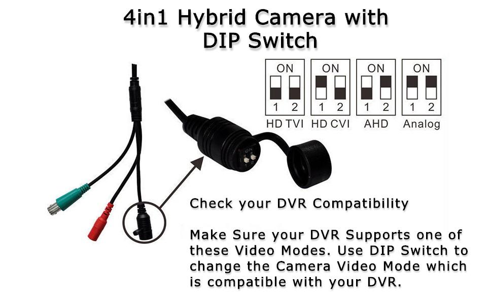 dip switch video mode