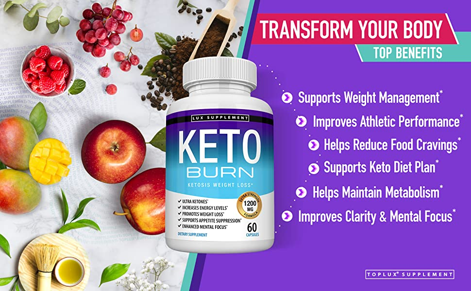 Keto Burn Toplux Supplement Ketones Apple Cider Vinegar