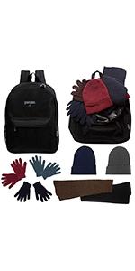 bulk, wholesale, backpacks, donation kit, warmth kit
