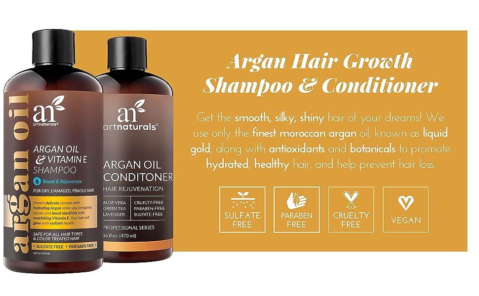 Argan Hair Growth Shampoo & Conditioner