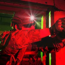 Tactical missing with NVG mounted headlamp