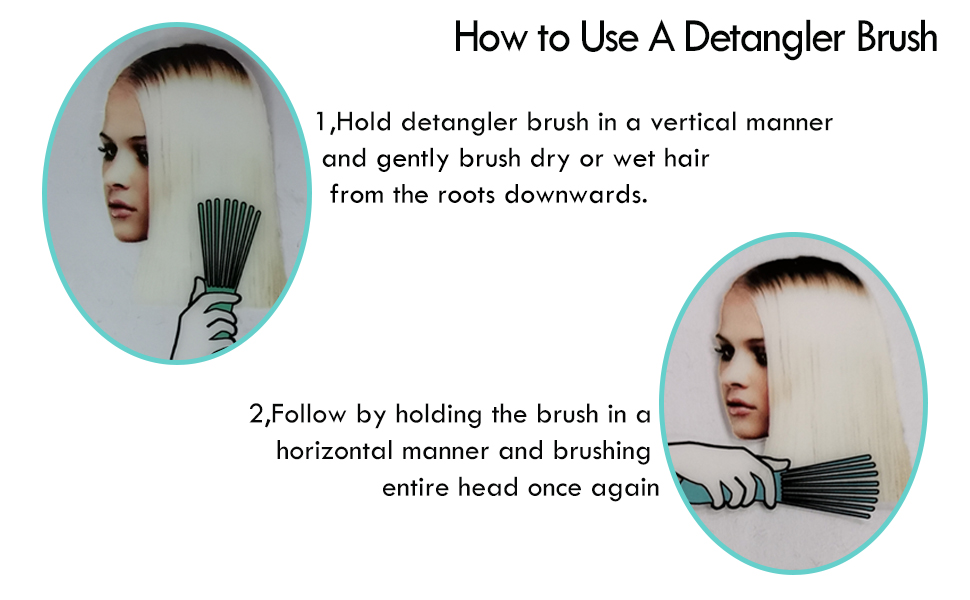 How to use detangling brush