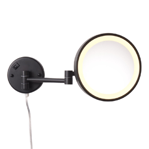 magnifying mirror wall mounted with light