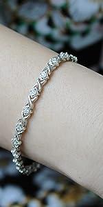 xo natural diamond bracelet