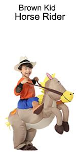 01 kid brown horse rider costume