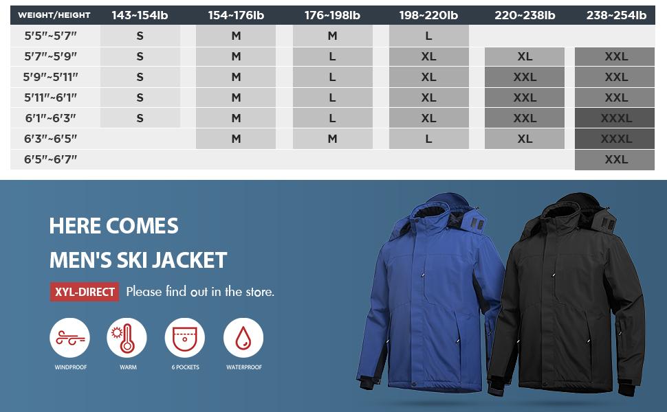 windproof ski jacket