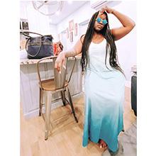 Summer loose plain dress