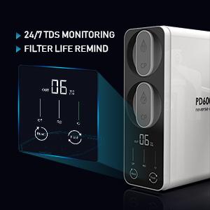 TDS monitoring filter life