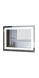 LED Lighted Bathroom Wall Mounted Mirror