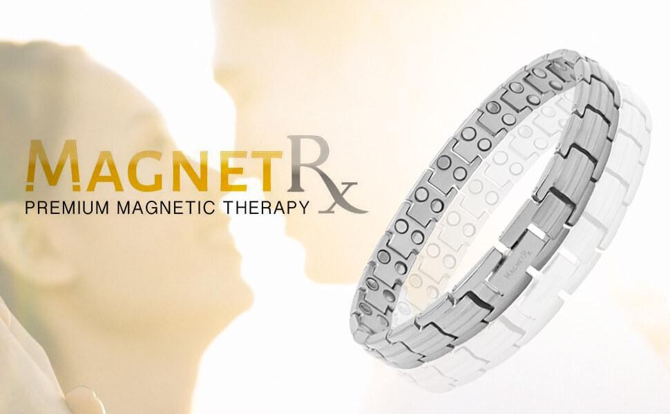 Silver titanium magnetic bracelet for women pain relief bracelet for MagnetRX