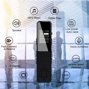 anglink 8/GB 15/m Distancia 1536/Kbps doble micr/ófonos de grabaci/ón dict/áfono con Digital recorder Reconocimiento de voz pantalla OLED MP3/Player Altavoz para oficina escuela dictado digital