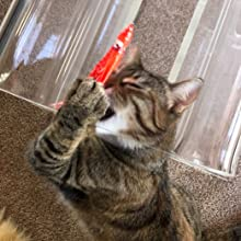 kitty kraken cat toy mouse feather string wand pole interactive exercise fun teaser action rod made