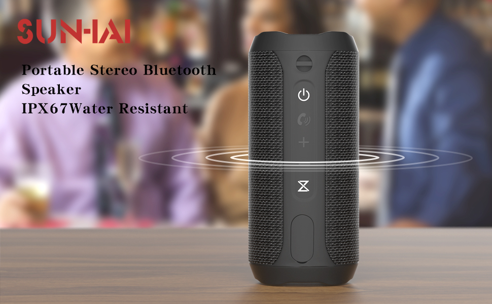 WSHDZ Portable 20w Waterproof Wireless Stereo Bluetooth Speakers J20 with Enhanced Bass Sound,Party Light,IPX67,HD Sound,Long Battery Life Support Hands-Free Call for Outdoor Indoor Activities-Black c2a7365d 9967 4a46 b038 8c9daefe5c1e
